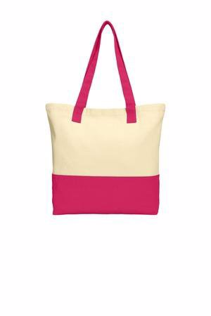 Port Authority Colorblock Cotton Tote. BG414