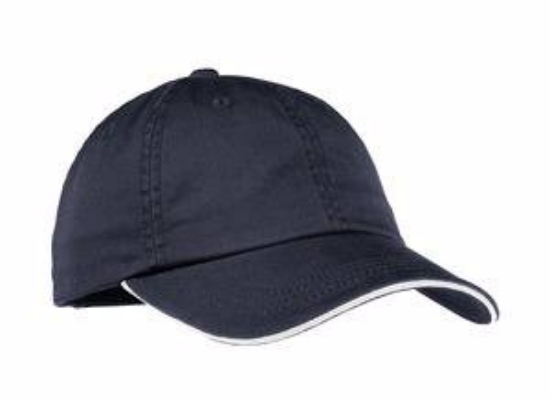 Port Authority Ladies Sandwich Bill Cap with Striped Closure. LC830