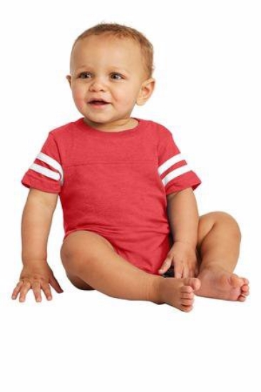 Rabbit Skins Infant Football Fine Jersey Bodysuit. RS4437