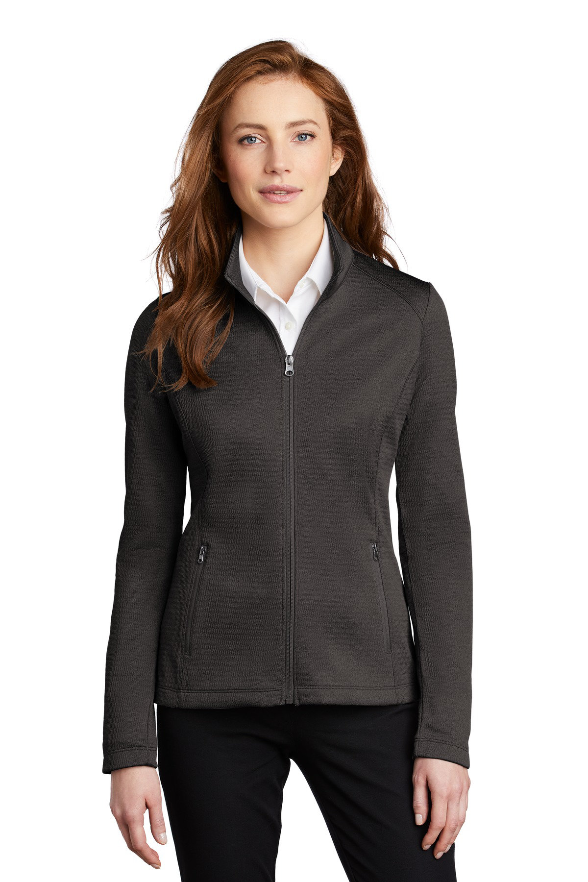 Port Authority  Ladies Diamond Heather Fleece Full-Zip Jacket L249