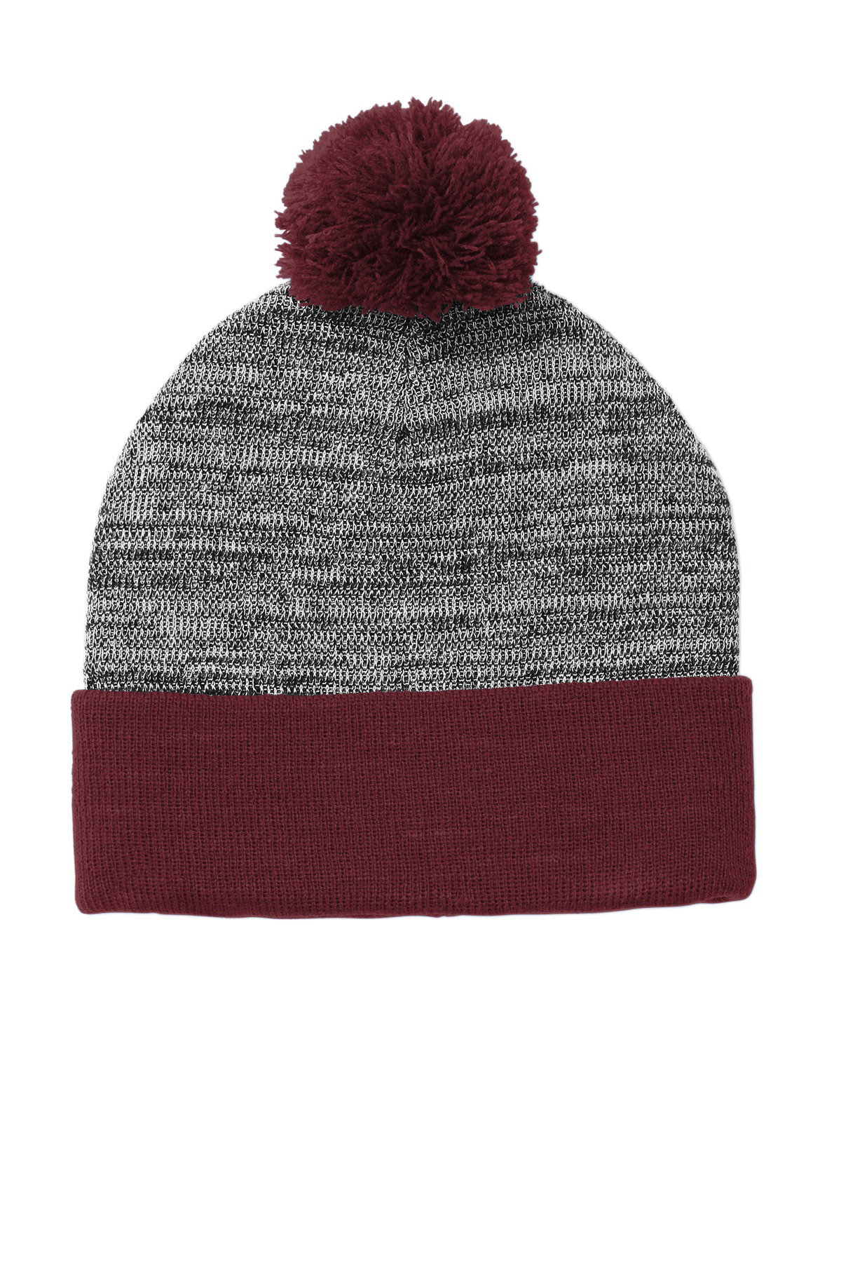 Maroon/ Grey Heather