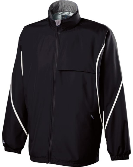 Adult Polyester Full Zip Hooded Circulate Jacket - 229159