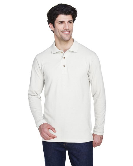 Adult Long-Sleeve Classic PiquPolo - 8532