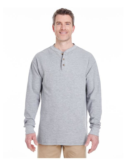 Adult Mini Thermal Henley - 8456
