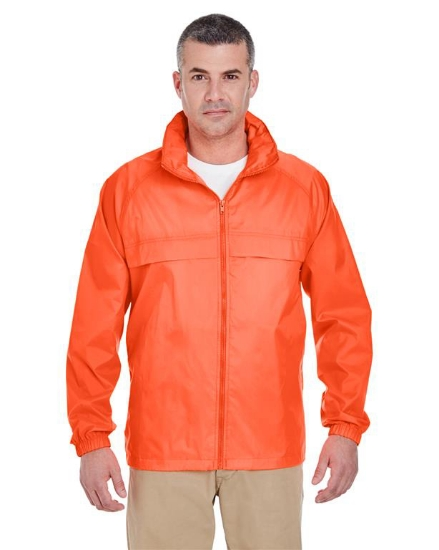 Adult Full-Zip Hooded Pack-Away Jacket - 8929