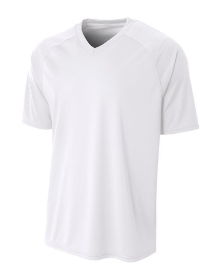 Adult Polyester V-Neck Strike Jersey with Contrast Sleeve - N3373