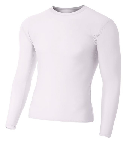 Adult Polyester Spandex Long Sleeve Compression T-Shirt - N3133