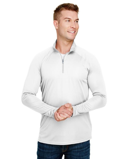 Adult Daily Polyester 1/4 Zip - N4268