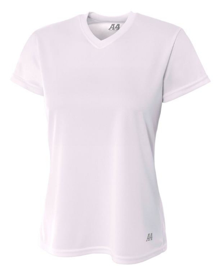 Ladies' Birds-Eye Mesh V-Neck T-Shirt - NW3254