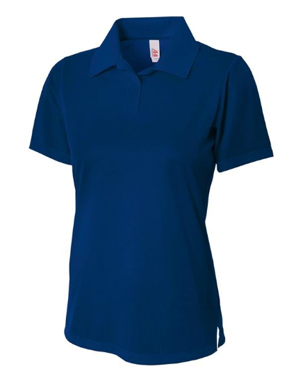 Ladies' Textured Polo Shirt w/ Johnny Collar - NW3265